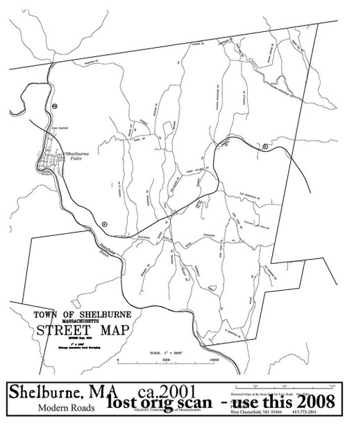 Shelburne 2003 - Old Town Map Reprint