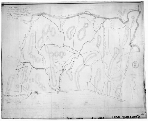 Buckland 1830 - Old Town Map Reprint