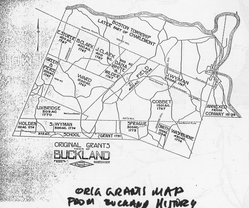 Buckland 1838 - Old Town Map Reprint