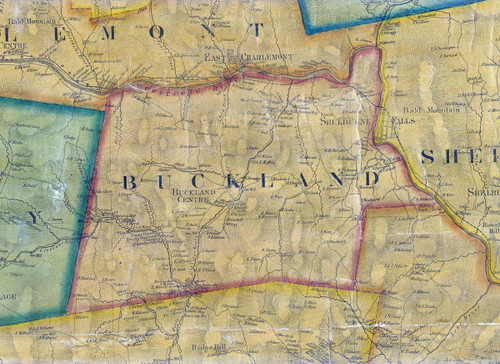 Buckland 1858 - Old Town Map Reprint