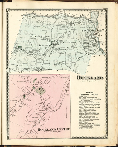 Buckland 1871 - Old Town Map Reprint