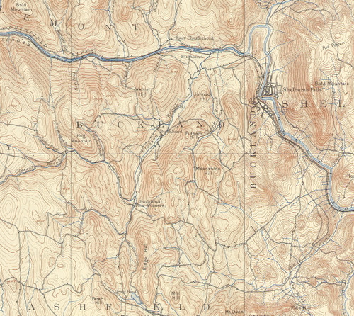 Buckland 1894 - Old Town Map Reprint
