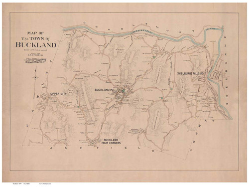 Buckland 1895 - Old Town Map Reprint