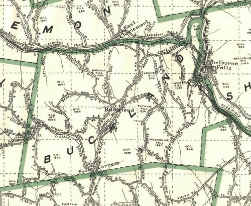 Buckland 1909 - Old Town Map Reprint