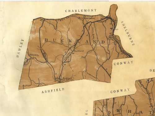 Buckland 1924 - Old Town Map Reprint