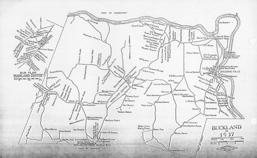 Buckland 1937 - Old Town Map Reprint