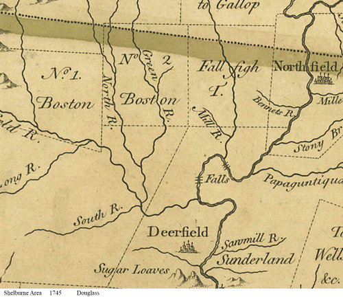 Shelburne 1745 - Old Town Map Reprint