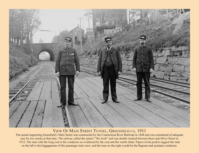 View Of Main Street Tunnel, Greenfield ca. 1911 - March 2011 Railroad Calendar Picture