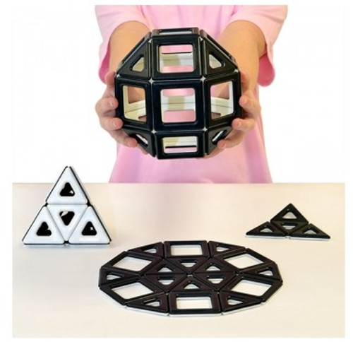 Magnetic Polydron - Black and White Set