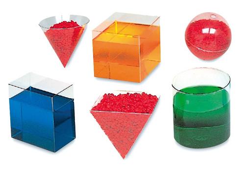 Clear Plastic Geometric Volume Set