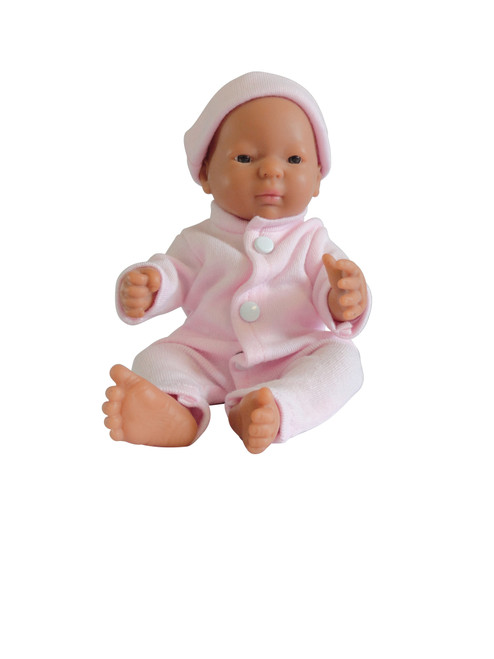 Little Tiny Doll Pink Sleep Suit and Hat