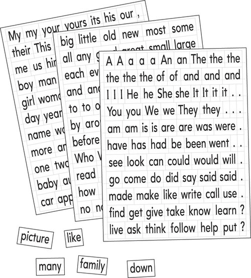 Magnetic Sight Words and Sentence Builders