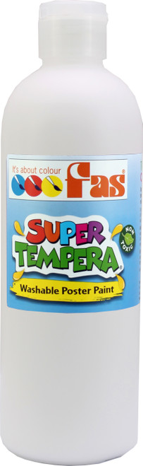 Super Tempera White Paint 500ml