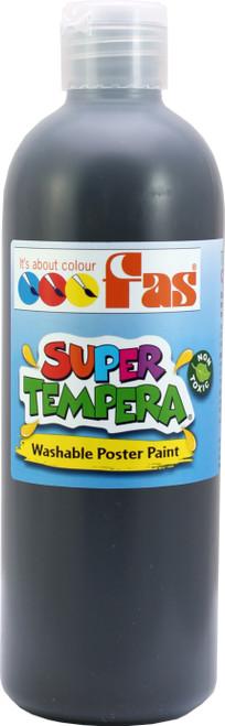 Super Tempera Black Paint 500ml