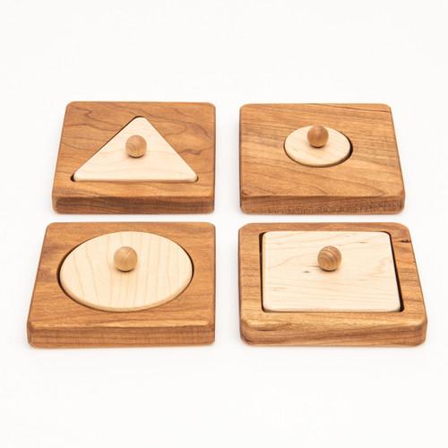 Shape Peg Puzzles Set