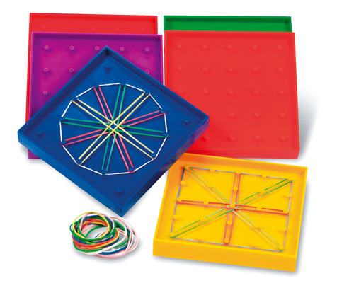 Geoboards Double-Sided - Set of 6