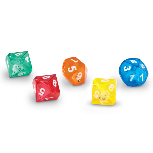 10 Sided Dice in Dice - Tub of 72