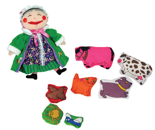 There Was an Old Lady Puppet Set