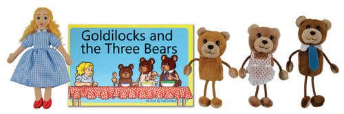 Goldilocks and the Three Bears Book and Puppet Set