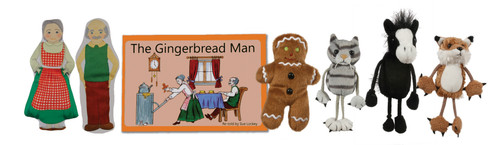 The Gingerbread Man Book and Puppet Set