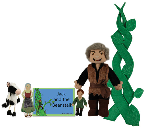 Jack and the Beanstalk Book and Puppet Set