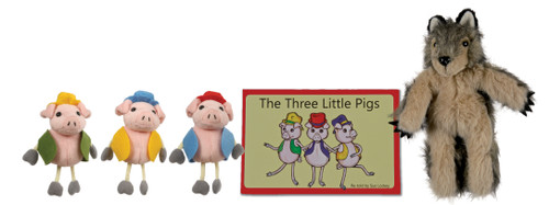 Three Little Pigs Book and Puppet Set