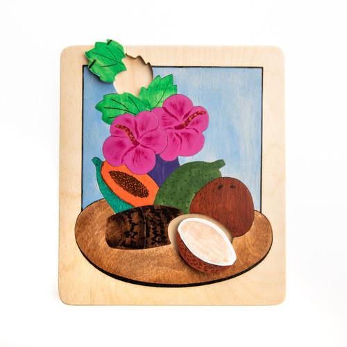 Fruit, Taro and Hibiscus Puzzle