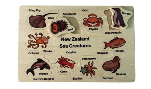 Bilingual NZ Sea Creatures Puzzle