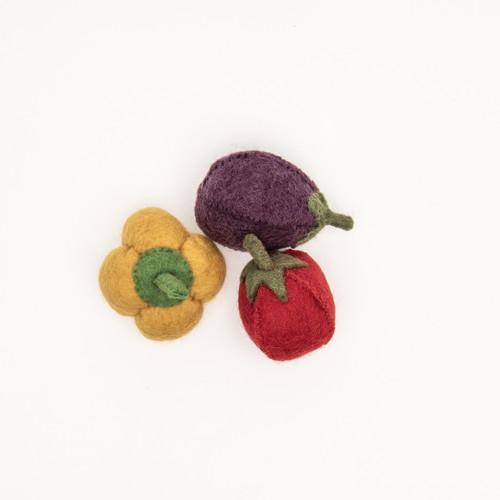 Capsicum, Eggplant and Tomato