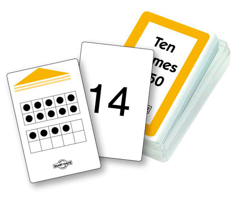 Ten Frames to Fifty Chute Cards