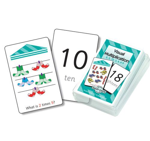 Visual Multiplication Chute Cards