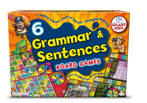 6 Grammar and Sentences Board Games