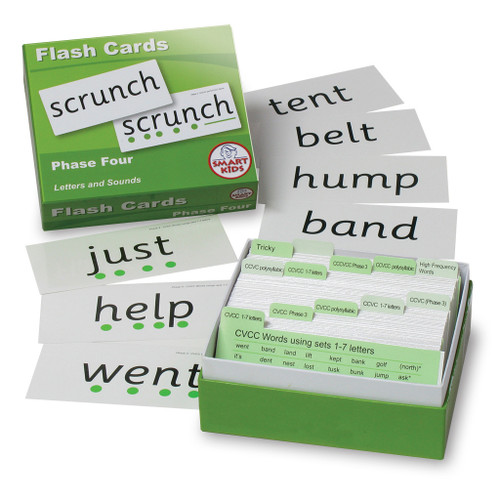 Letters and Sounds Flash Cards - Phase 4