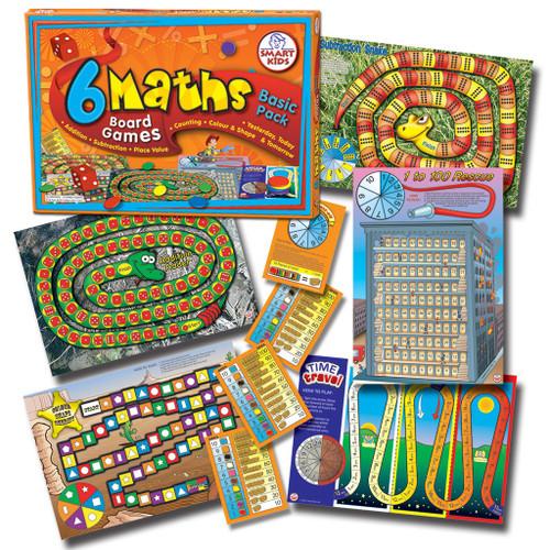 6 Maths Board Games - Basic (Yrs 1-2)