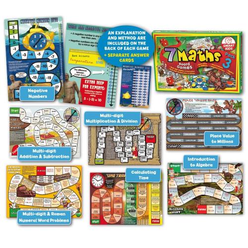 7 Maths Board Games - Pack 3 (Yrs7-8)