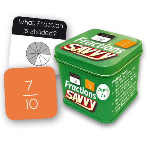 Fractions Savvy Flash Cards