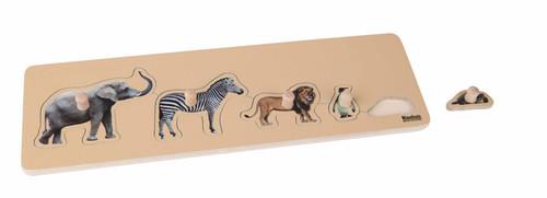 Wild Animal Peg Puzzle