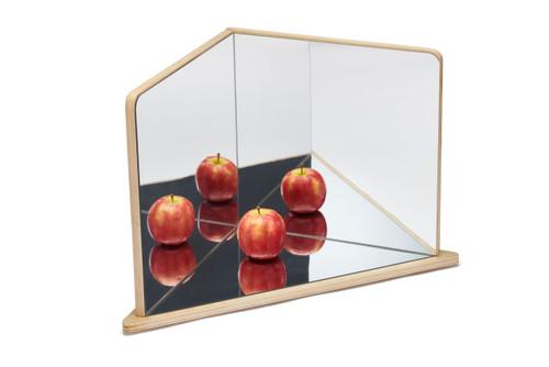 Wooden 4 Way Mirror