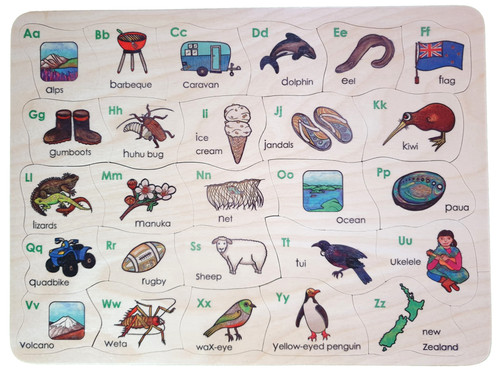 Kiwi Alphabet Puzzle