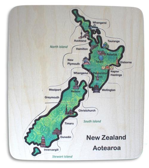 NZ City Map Puzzle