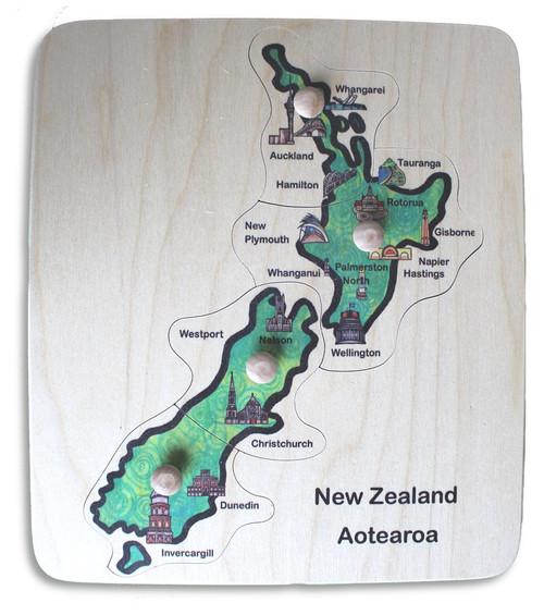 NZ City Map Peg Puzzle