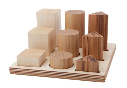 Natural Shape Sorter Board