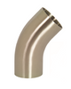 Polished 45° Weld Elbows with Tangents -3A