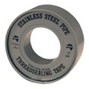 Stainless Steel PTFE Tape (gray)