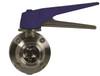 Bradford™ B5115 Series 304 Stainless Steel Butterfly Valves Clamp end with Trigger Handle