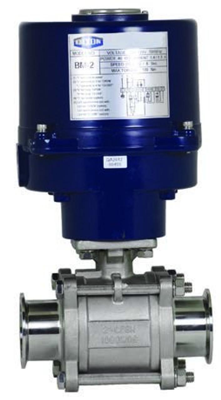 DIXON Electrically Actuated 3-Piece Sanitary Ball Valves