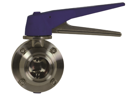 Dixon Sanitary B5101 Butterfly Valve 2-1//2 Weld Ends w//FKM Seat /& Pull Handle
