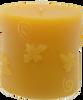 Honey Bee Pillar Beeswax Candle