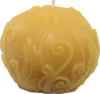 Round Fern Decorative Beeswax Candle