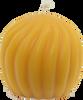Swirl Ball Beeswax Candle